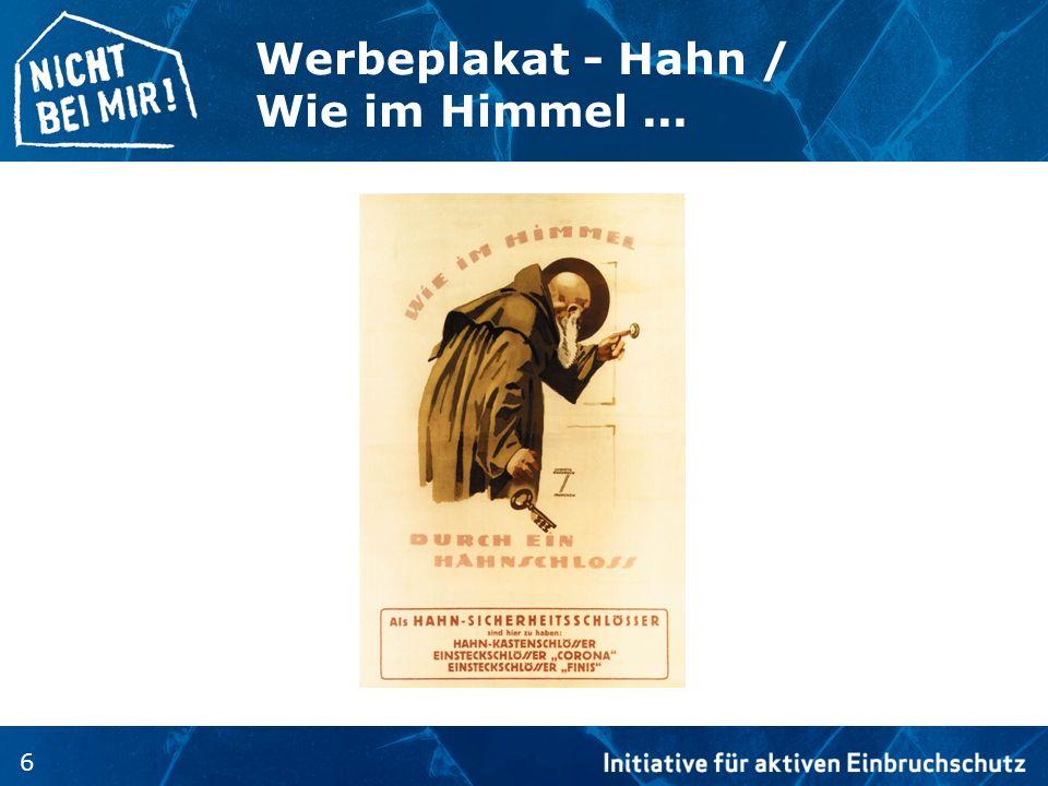 Werbeplakat - Hahn / Wie im Himmel ...