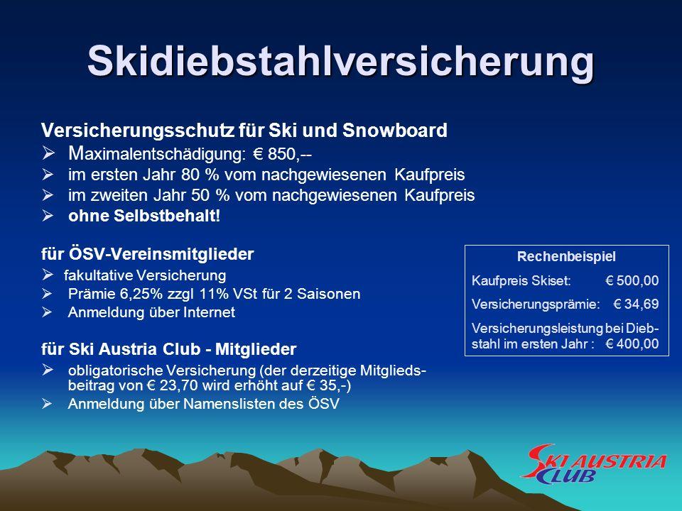 Skidiebstahlversicherung