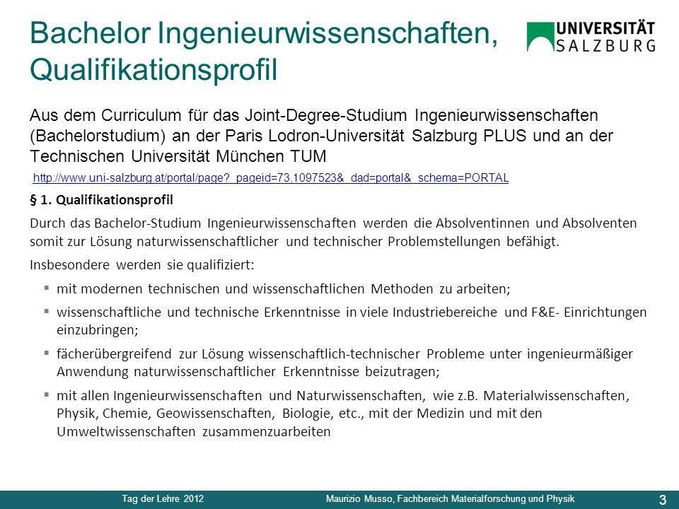 Bachelor Ingenieurwissenschaften, Qualifikationsprofil