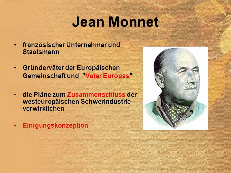 Jean Monnet französischer Unternehmer und Staatsmann