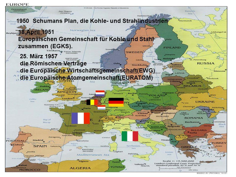 1950 Schumans Plan, die Kohle- und Strahlindustrien