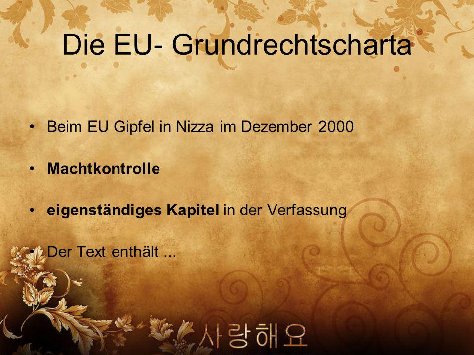 Die EU- Grundrechtscharta