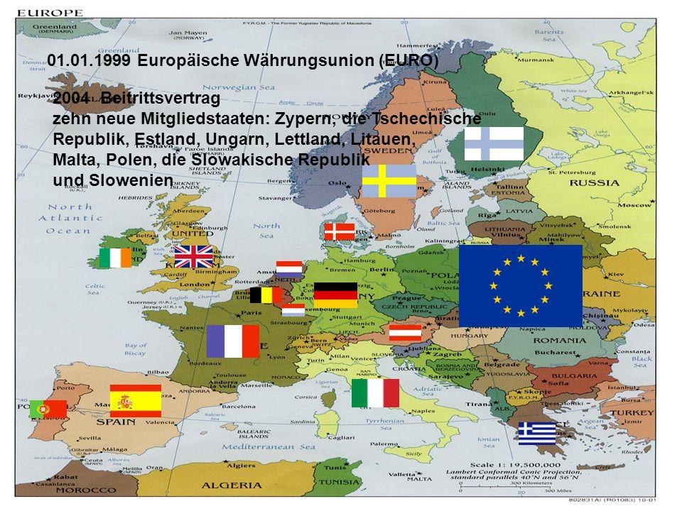 01.01.1999 Europäische Währungsunion (EURO)