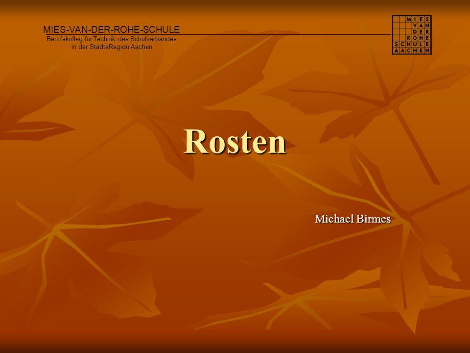 Rosten Michael Birmes MIES-VAN-DER-ROHE-SCHULE