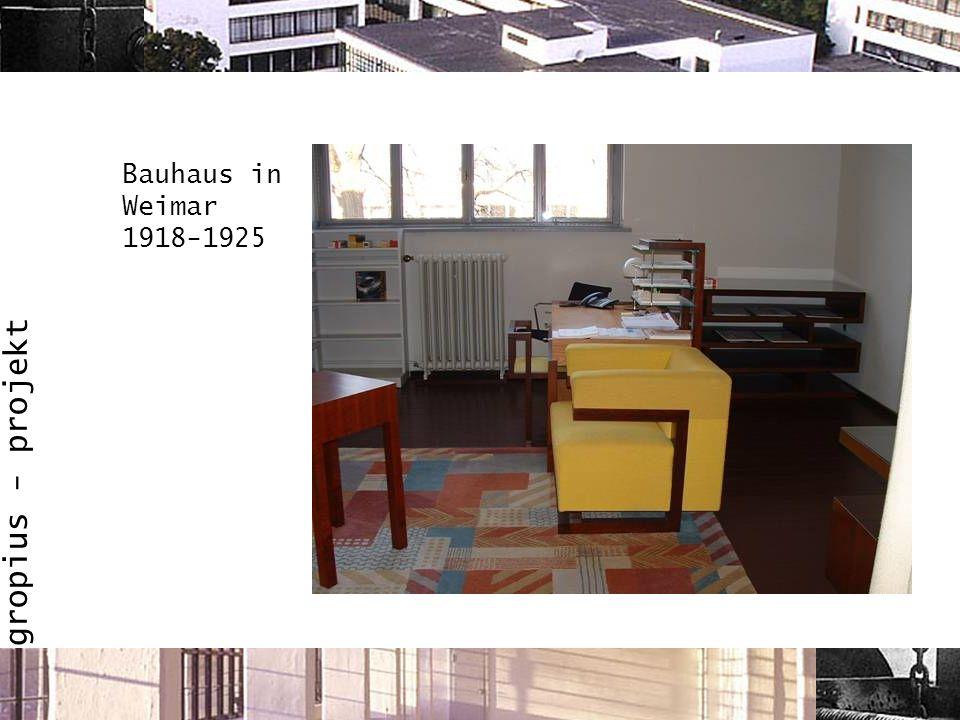 Bauhaus in Weimar 1918-1925
