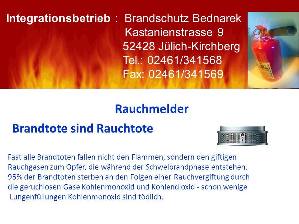 Rauchmelder Integrationsbetrieb : Brandschutz Bednarek