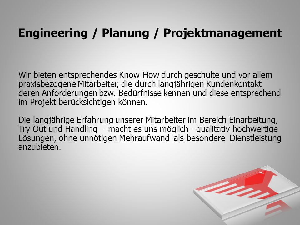 Engineering / Planung / Projektmanagement