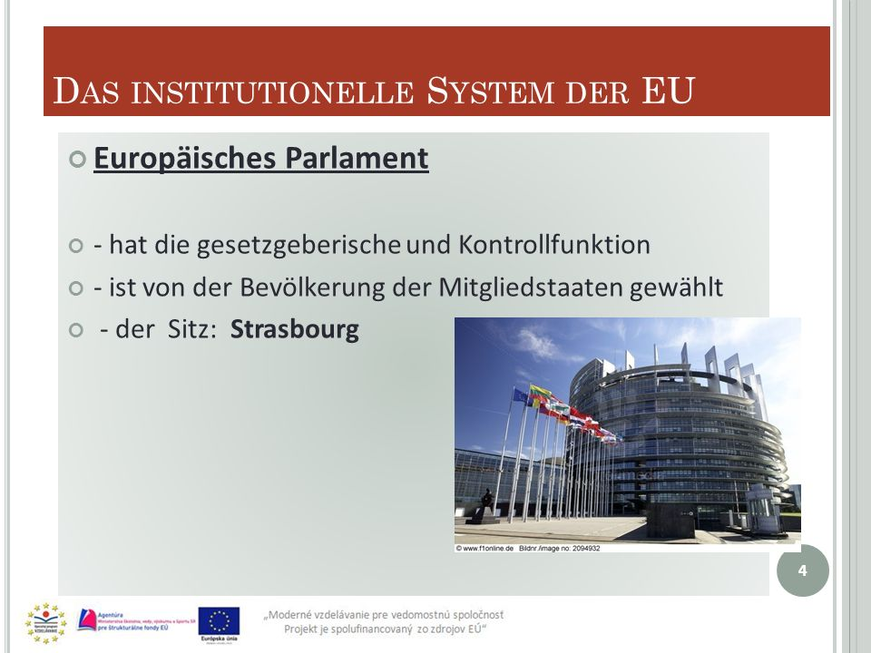 Das institutionelle System der EU