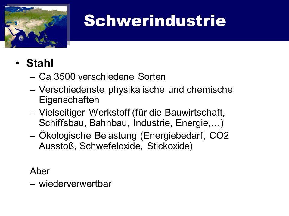 Schwerindustrie Stahl Ca 3500 verschiedene Sorten
