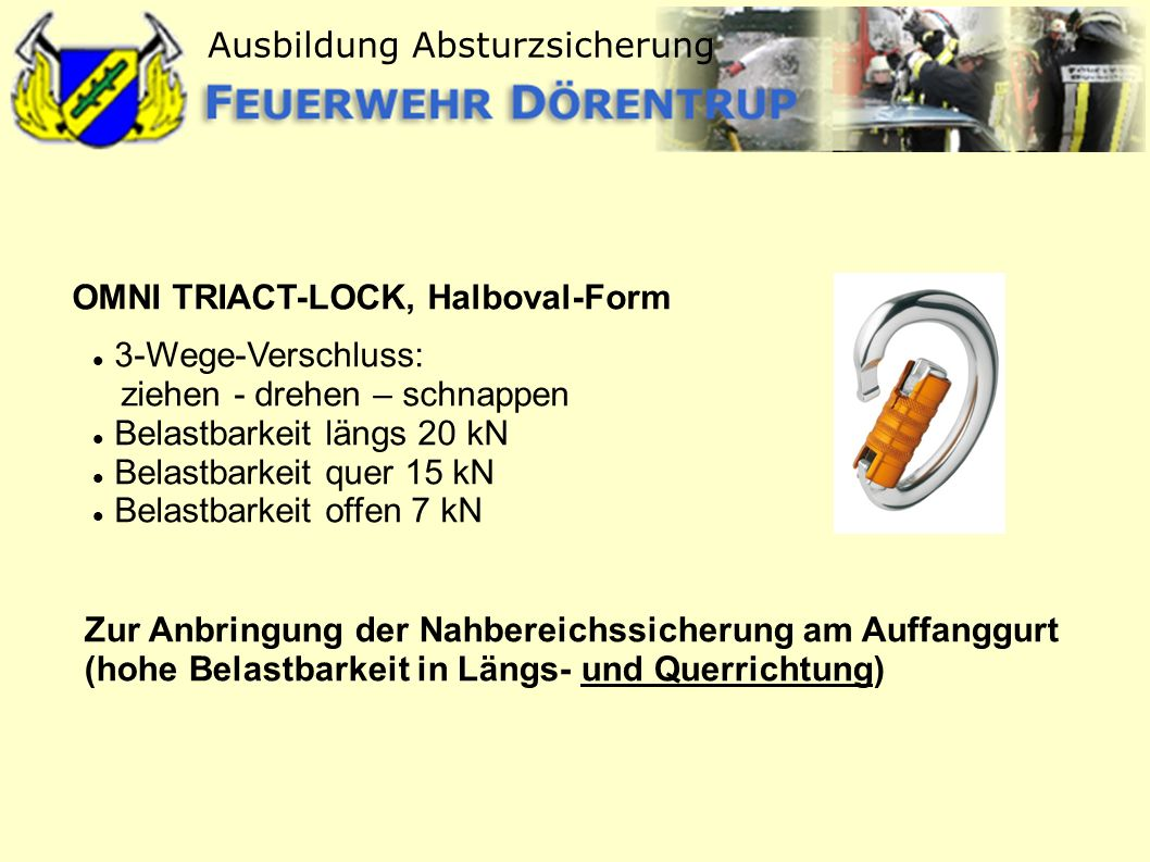 OMNI TRIACT-LOCK, Halboval-Form