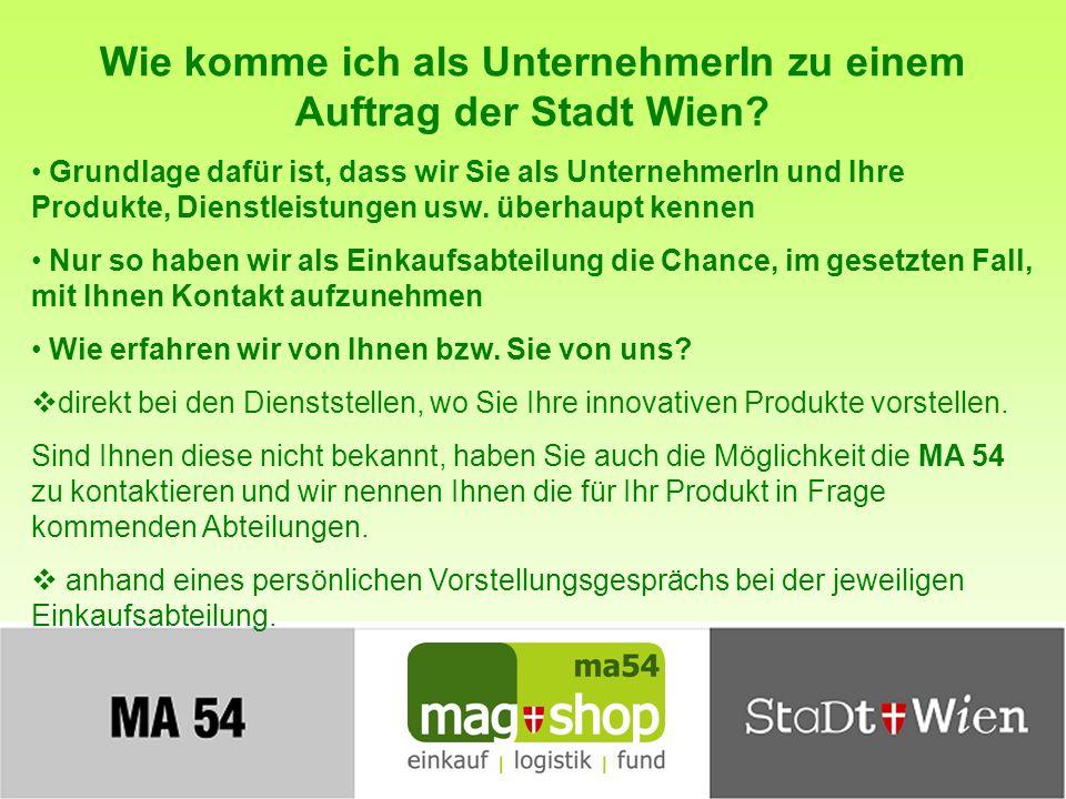 Wie komme ich als UnternehmerIn zu einem Auftrag der Stadt Wien