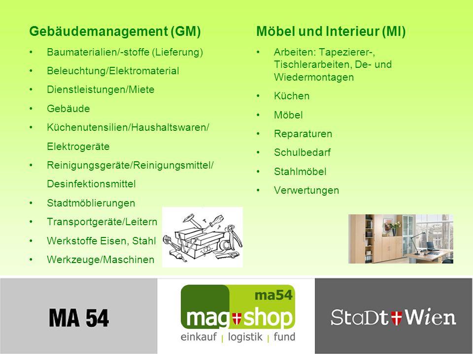 Gebäudemanagement (GM) Möbel und Interieur (MI)