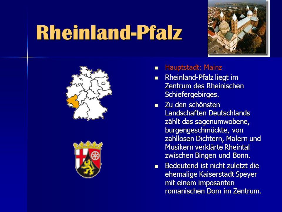 Rheinland-Pfalz Hauptstadt: Mainz