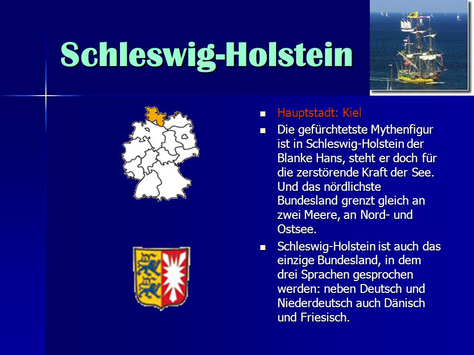 Schleswig-Holstein Hauptstadt: Kiel