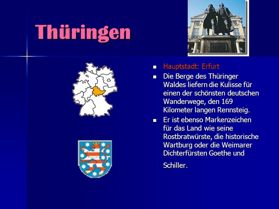Thüringen Hauptstadt: Erfurt