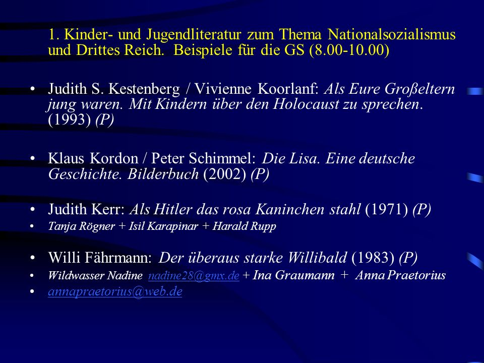 Judith Kerr: Als Hitler das rosa Kaninchen stahl (1971) (P)