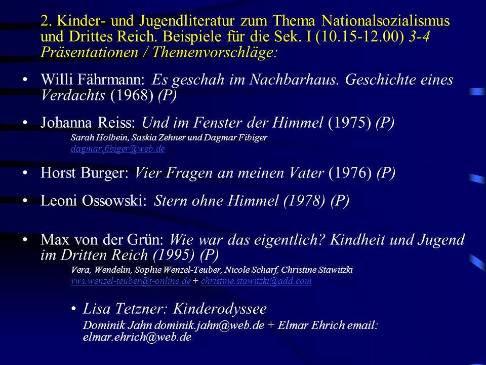 Johanna Reiss: Und im Fenster der Himmel (1975) (P)