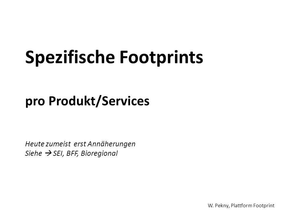 Spezifische Footprints