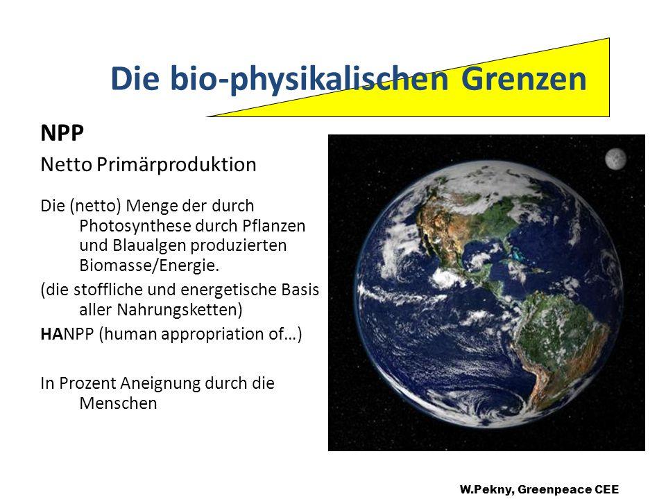 Die bio-physikalischen Grenzen