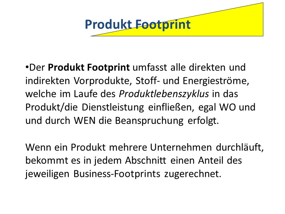 Produkt Footprint