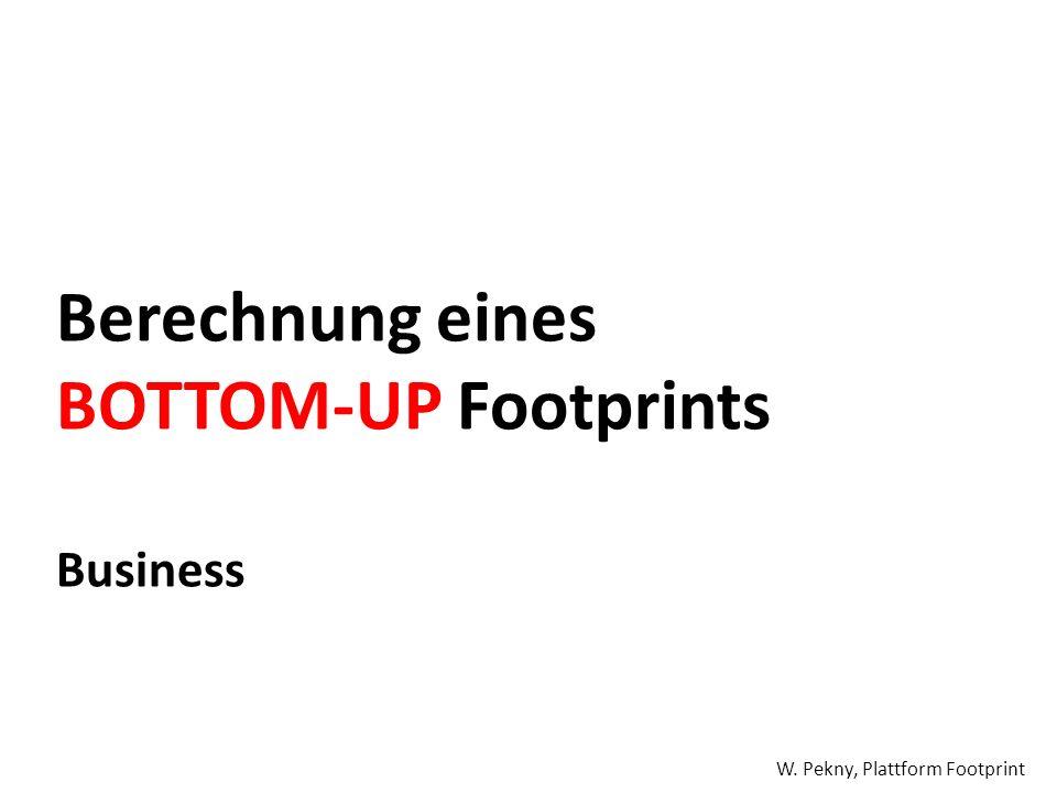 Berechnung eines BOTTOM-UP Footprints Business