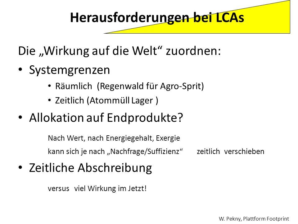 Herausforderungen bei LCAs
