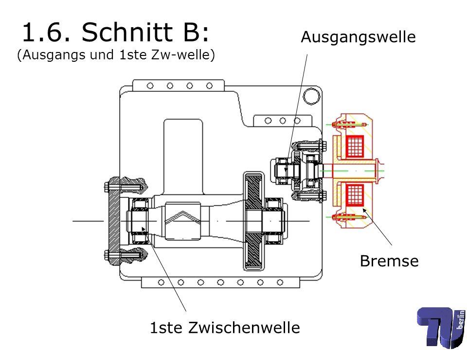1.6. Schnitt B: (Ausgangs und 1ste Zw-welle)
