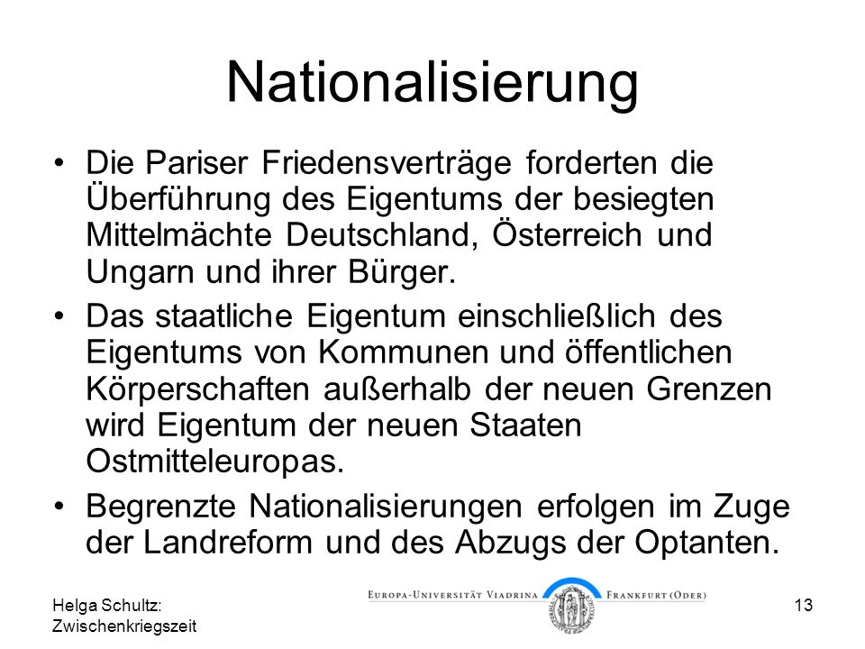 Nationalisierung
