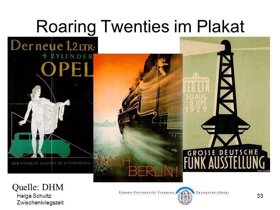 Roaring Twenties im Plakat