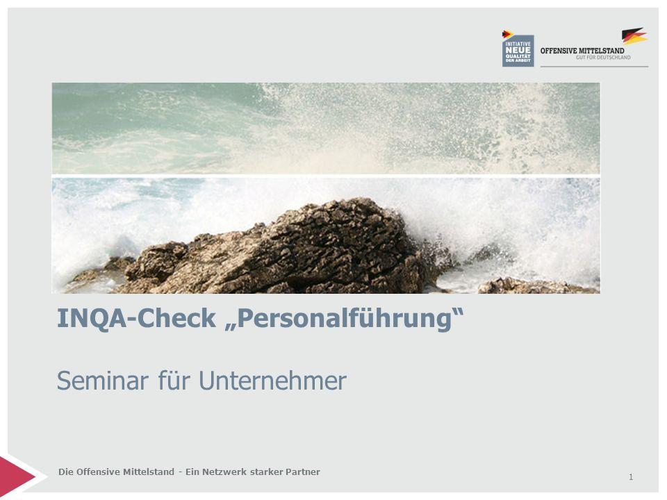 """INQA-Check """"Personalführung Seminar für Unternehmer"""