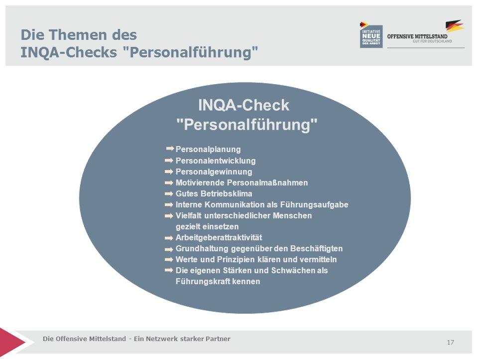 Die Themen des INQA-Checks Personalführung