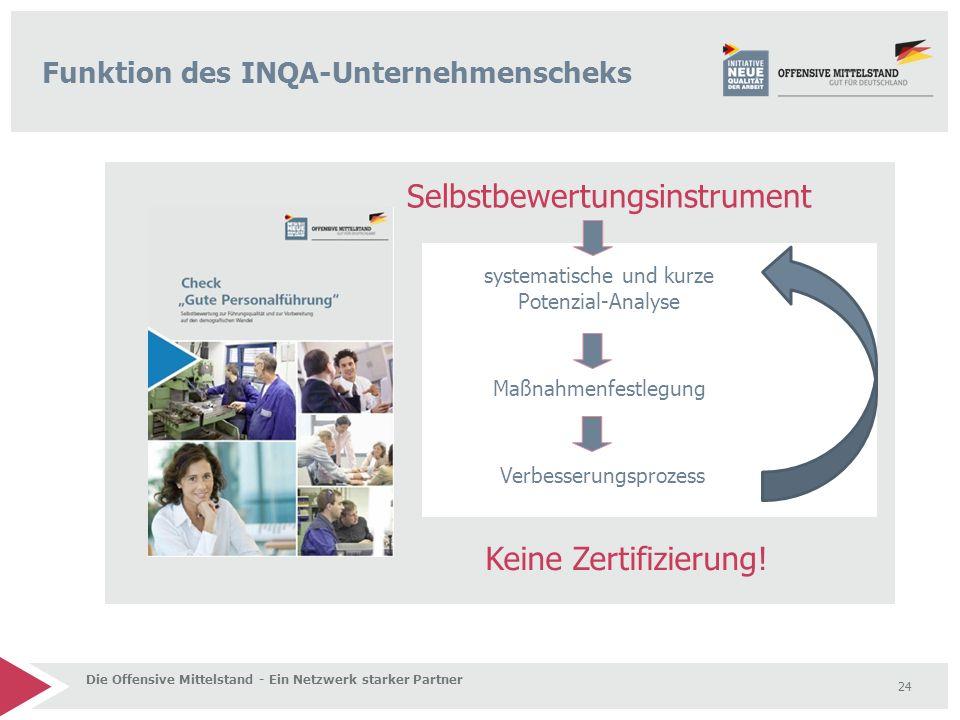 Funktion des INQA-Unternehmenscheks