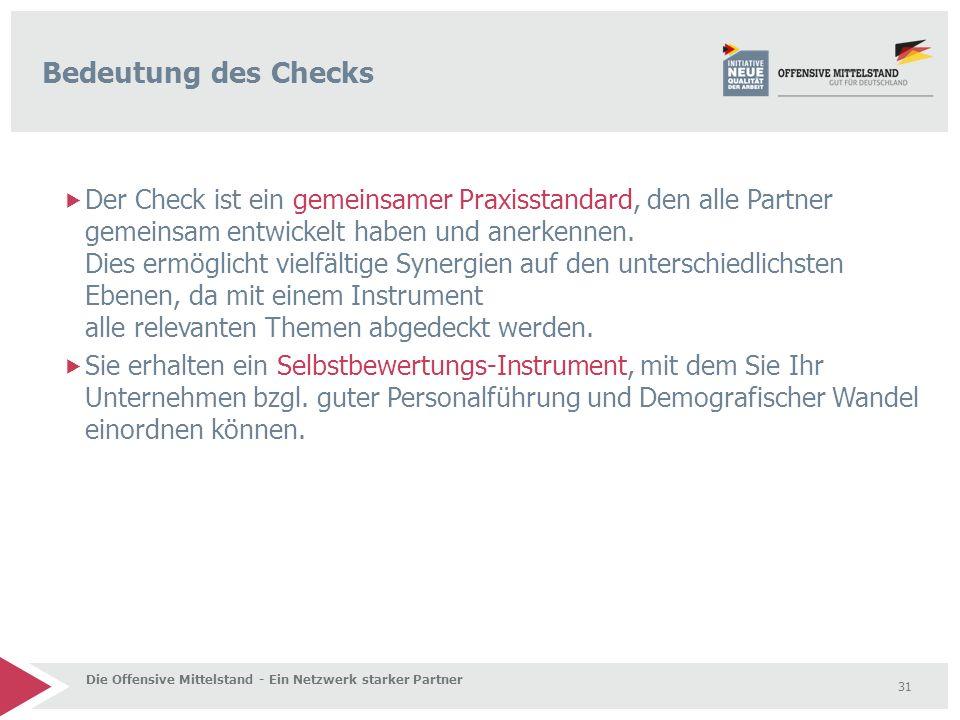 Bedeutung des Checks
