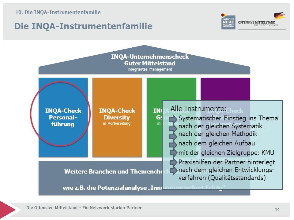 Die INQA-Instrumentenfamilie