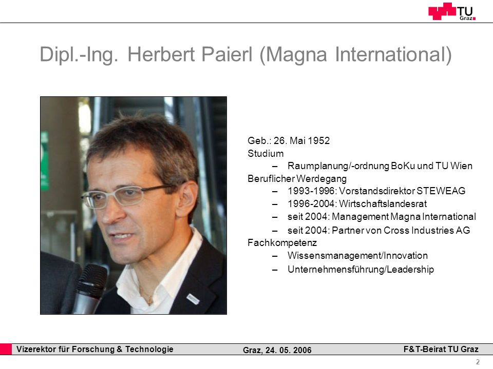 Dipl.-Ing. Herbert Paierl (Magna International)