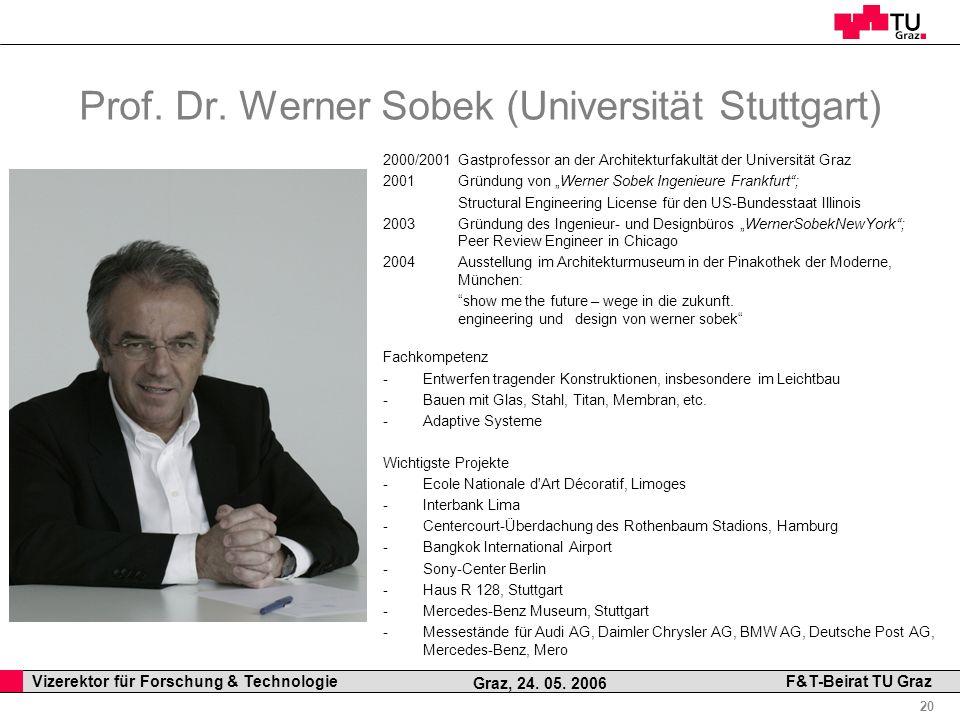 Prof. Dr. Werner Sobek (Universität Stuttgart)