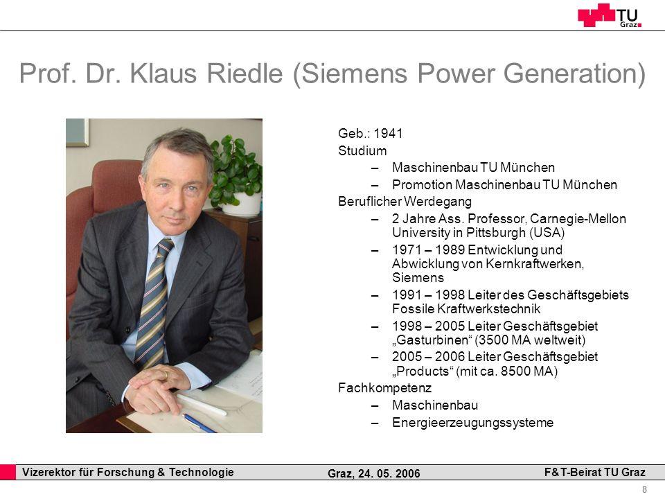 Prof. Dr. Klaus Riedle (Siemens Power Generation)