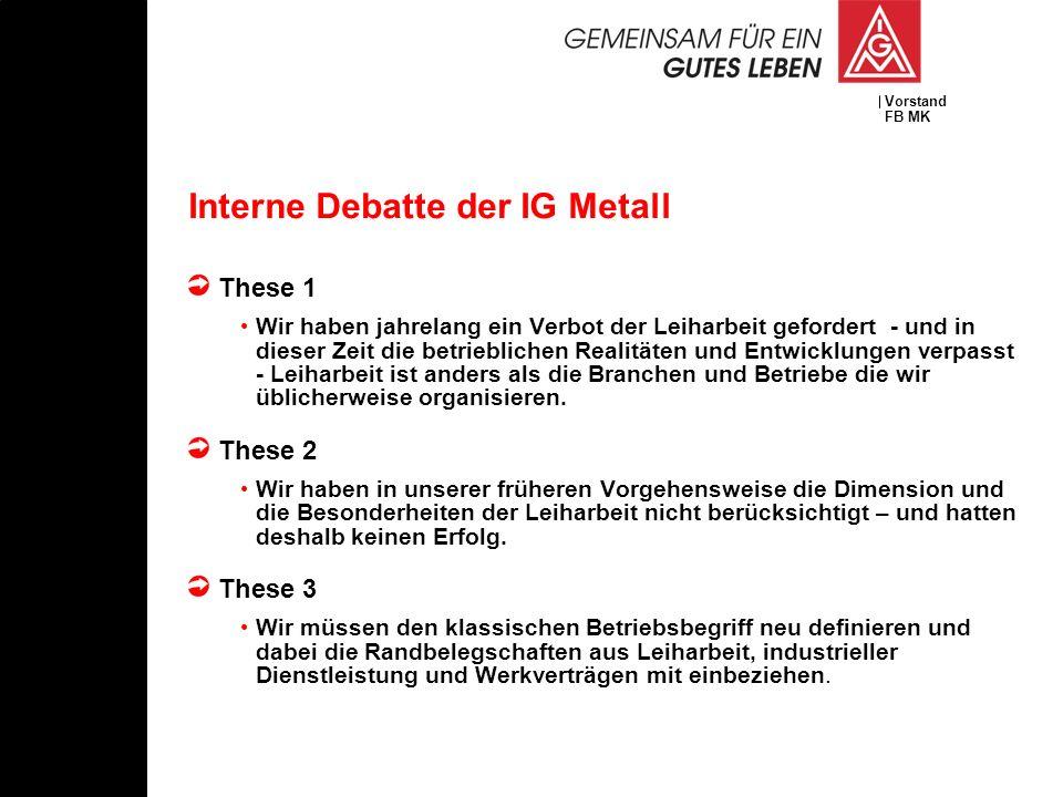 Interne Debatte der IG Metall