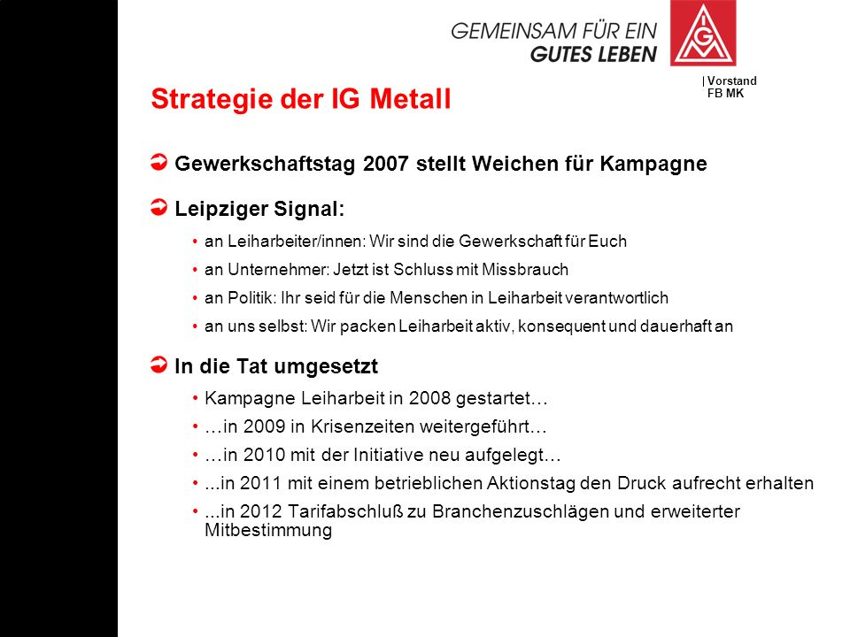 Strategie der IG Metall