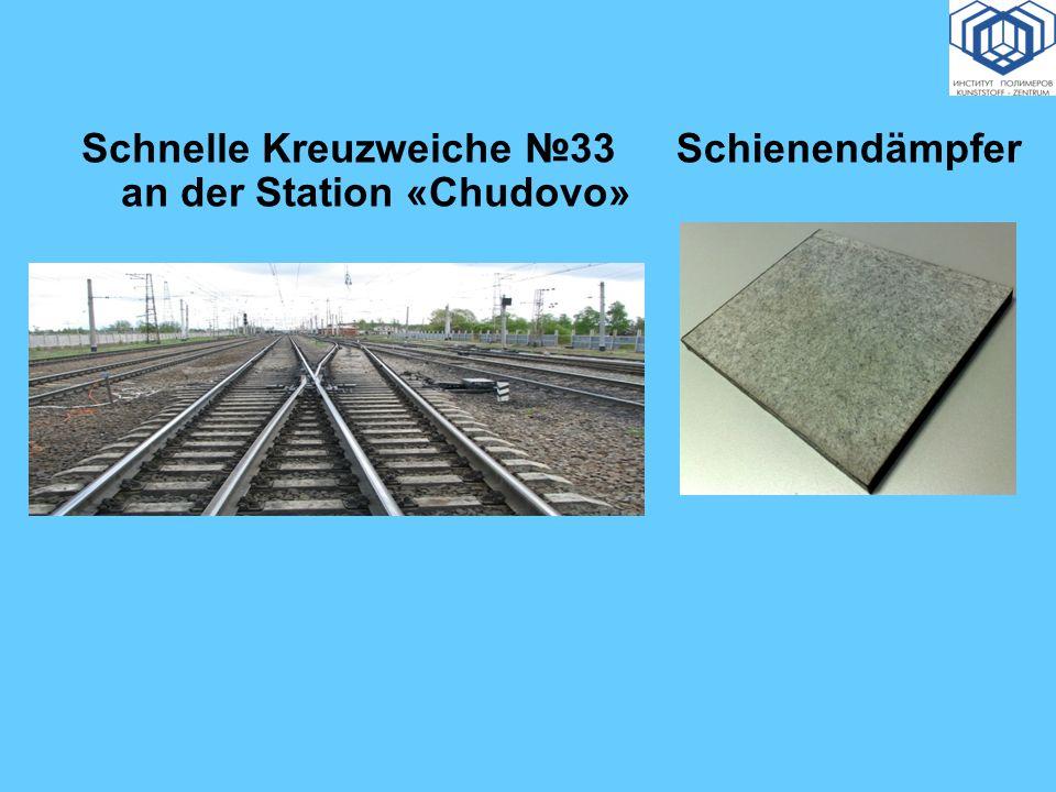 Schnelle Kreuzweiche №33 an der Station «Chudovo»