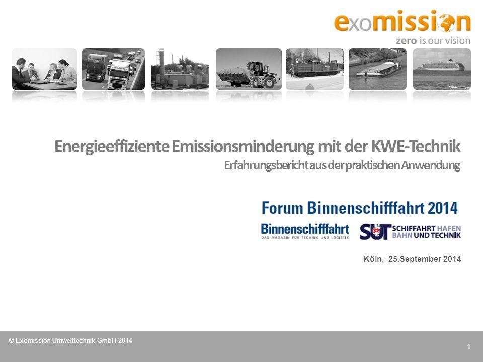 Energieeffiziente Emissionsminderung mit der KWE-Technik Erfahrungsbericht aus der praktischen Anwendung