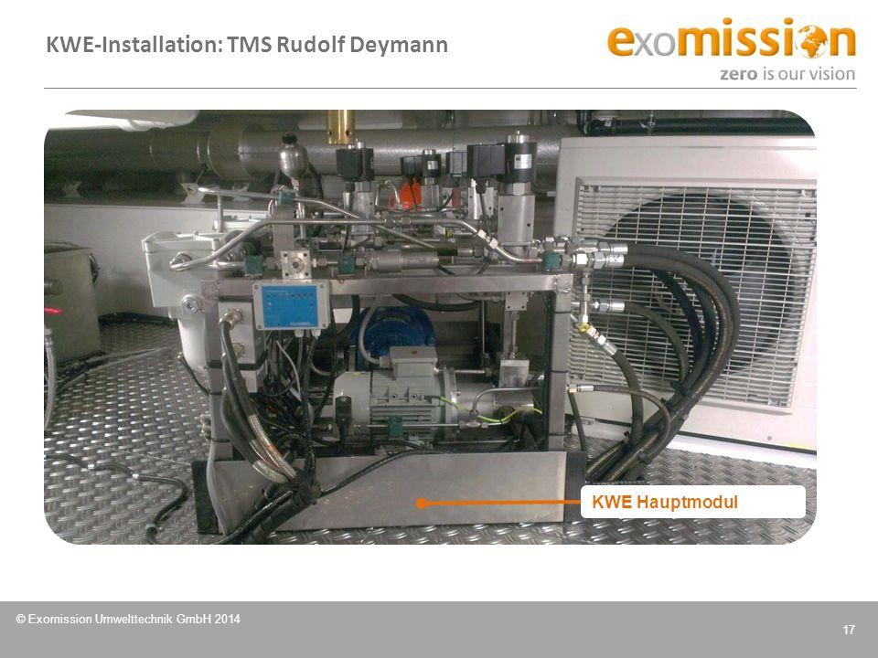 KWE-Installation: TMS Rudolf Deymann