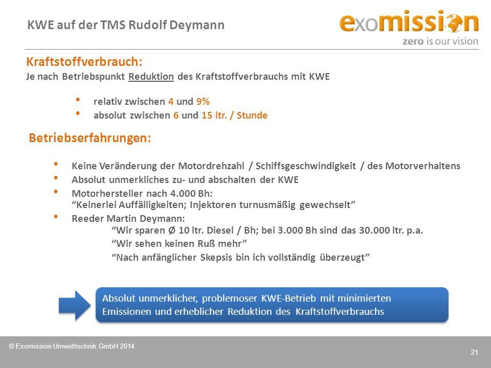 KWE auf der TMS Rudolf Deymann