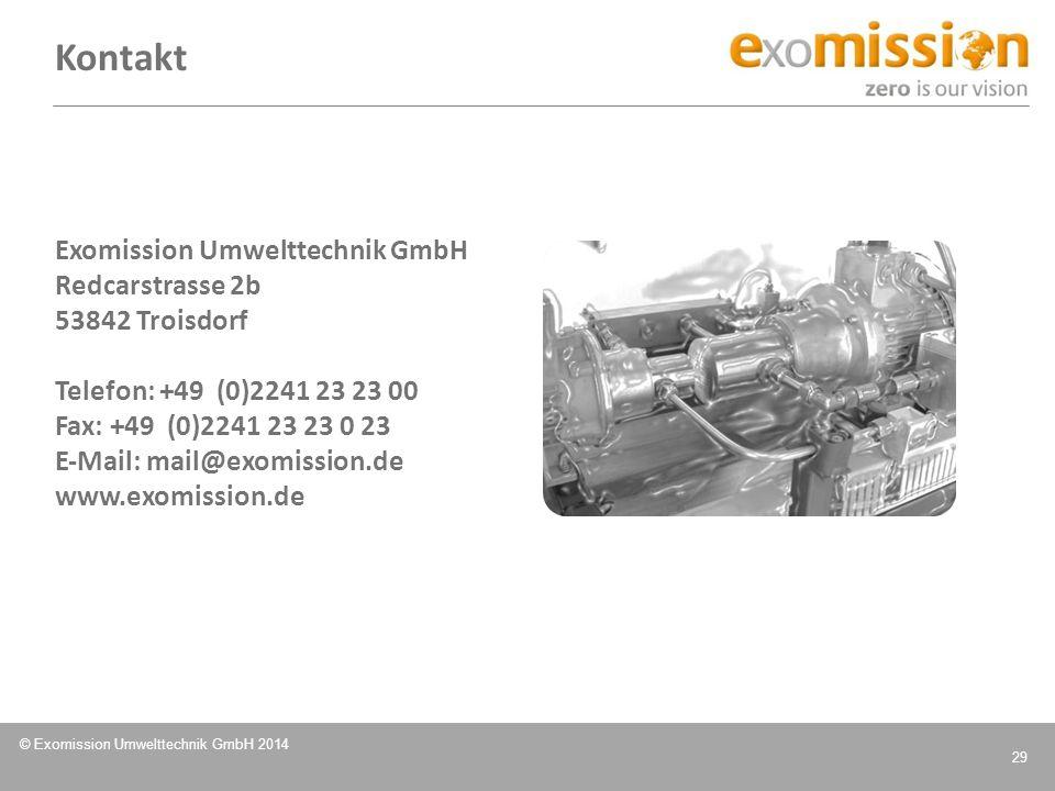 Kontakt Exomission Umwelttechnik GmbH Redcarstrasse 2b 53842 Troisdorf
