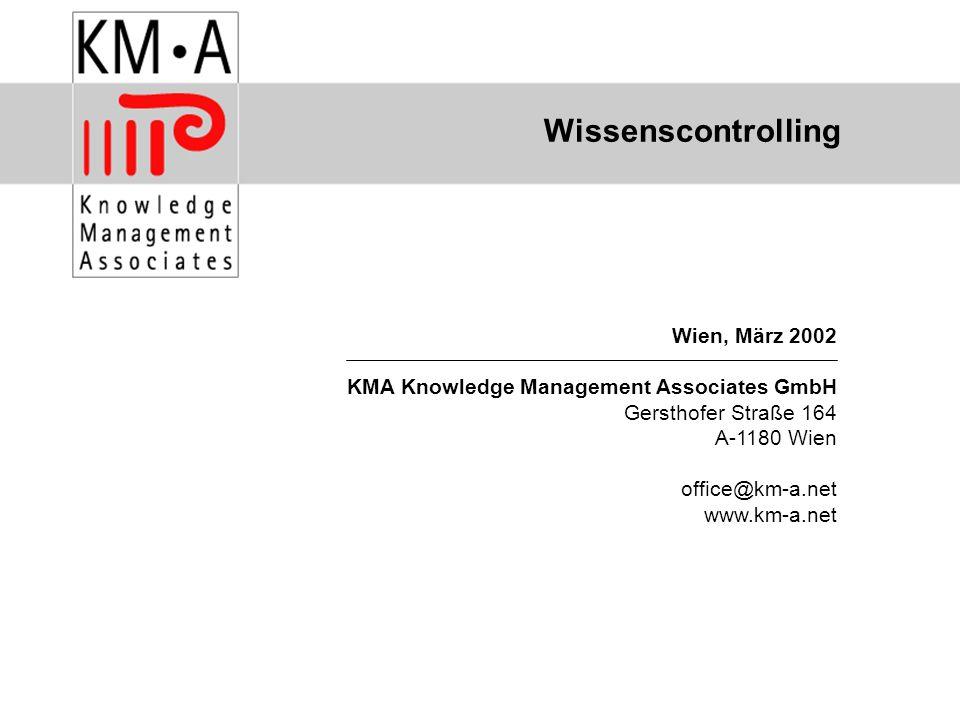 Wissenscontrolling Wien, März 2002