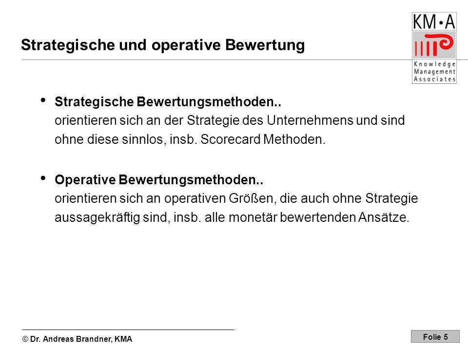 Strategische und operative Bewertung