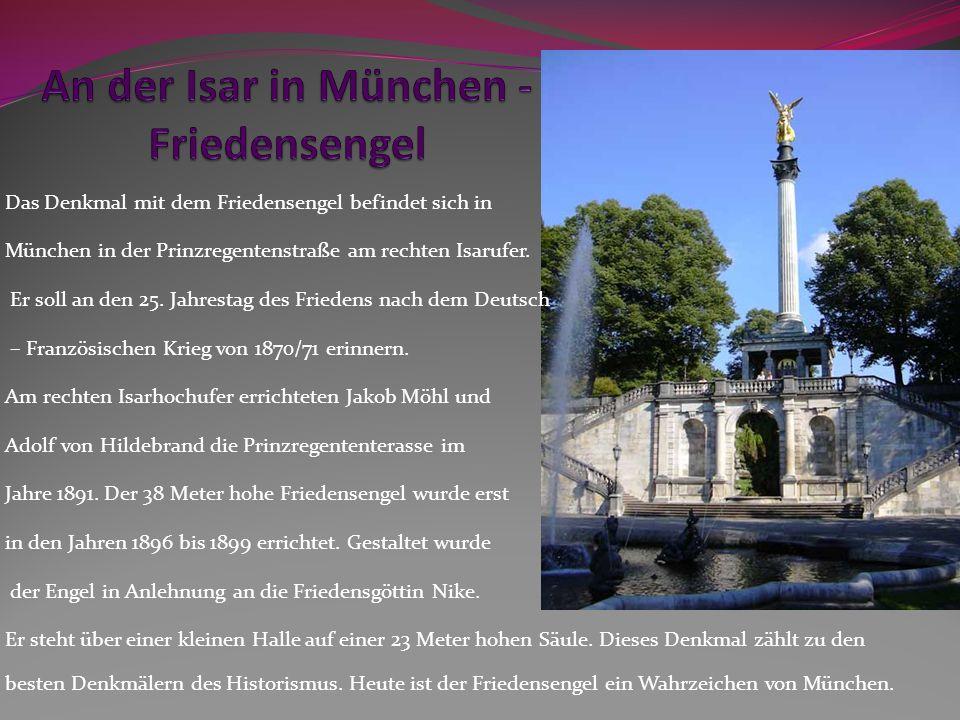 An der Isar in München - Friedensengel
