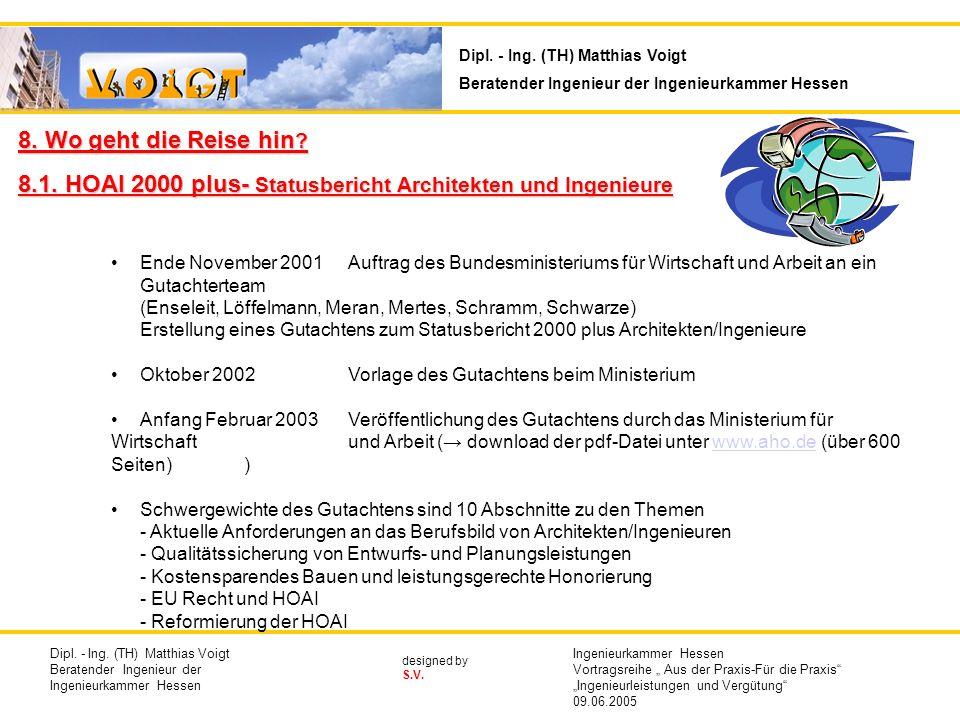 8.1. HOAI 2000 plus- Statusbericht Architekten und Ingenieure