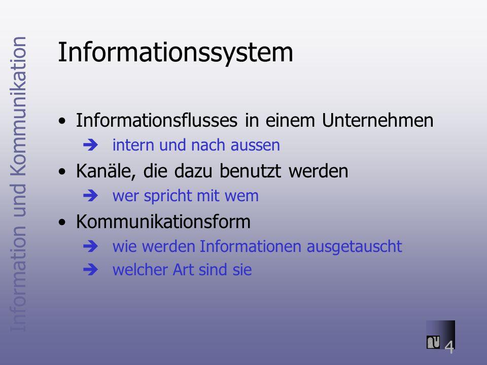 Informationssystem Informationsflusses in einem Unternehmen