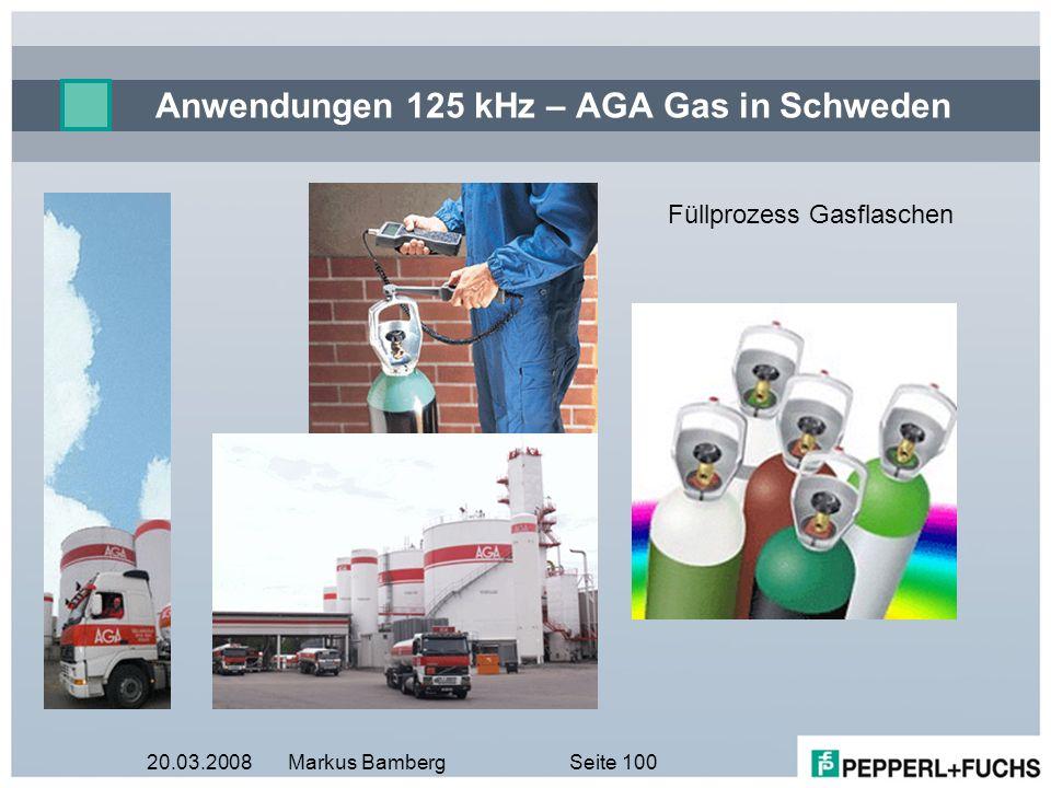 Anwendungen 125 kHz – AGA Gas in Schweden